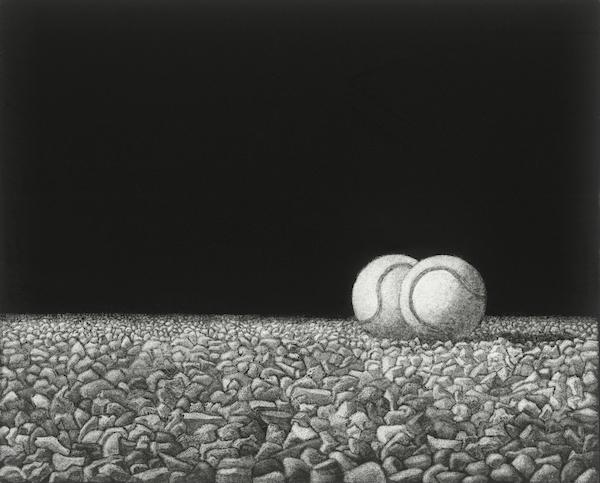 Joop Vegter, « Tennisballen op grind », 1978.