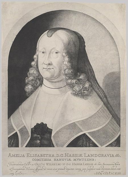 Ludwig von Siegen, « Portrait de la princesse Amélie-Élisabeth de Hesse », 1642, New York, Metropolitan Museum of Art.