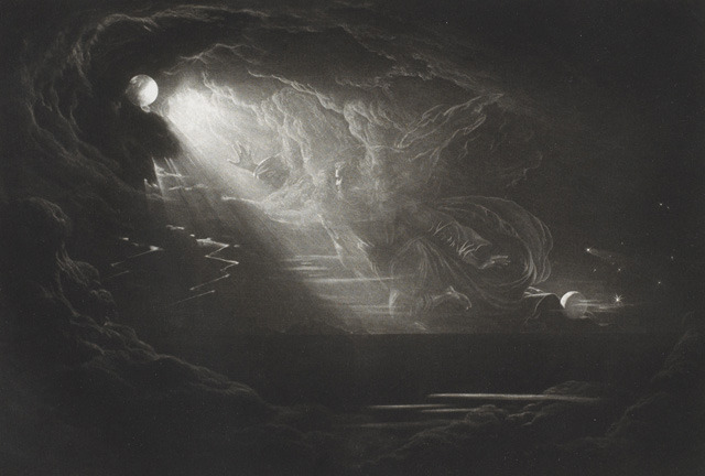 Creation of the light, after John Martin, from John Milton's Paradise lost.
